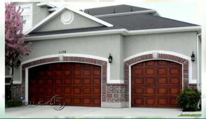 Studio 5 faux painted garage doors Faux wood garage door paint