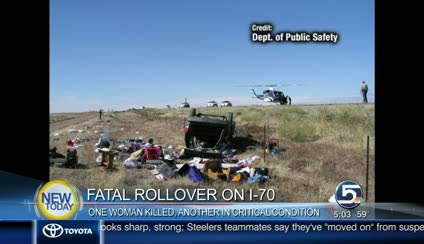 Woman killed in I-70 rollover accident | KSL com