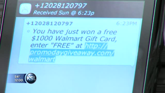 New texting scam promises $1,000 Walmart gift card | KSL.com